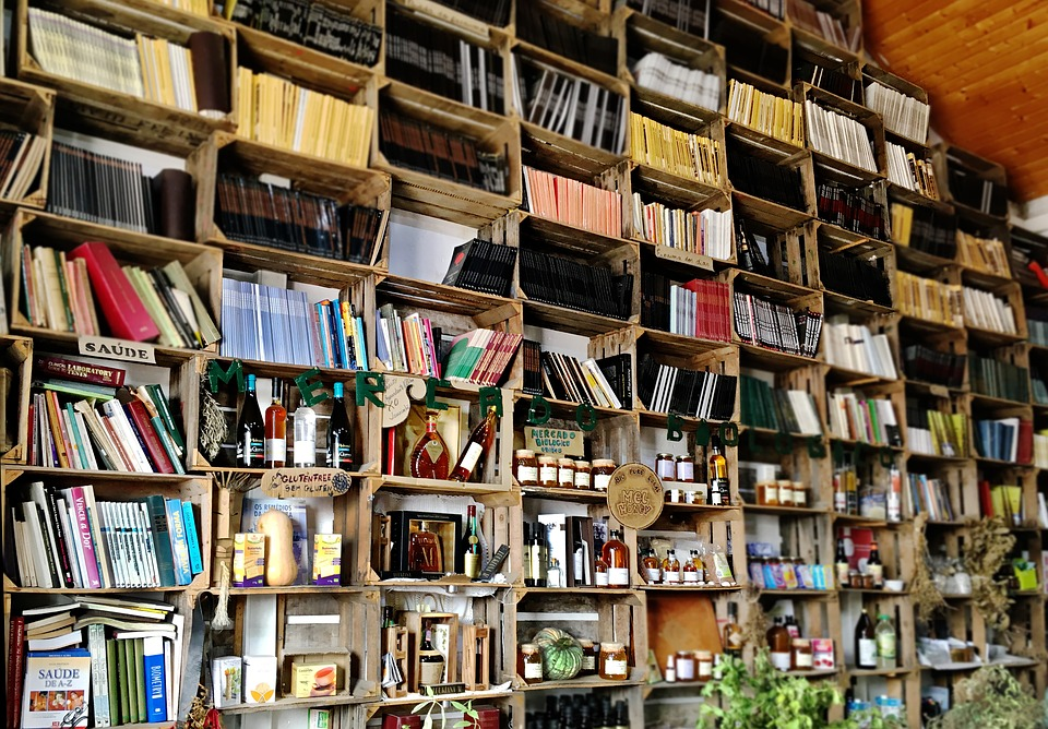 Free boxes can be found in almost any stores, however bookstores will offer plenty on a weekly level.