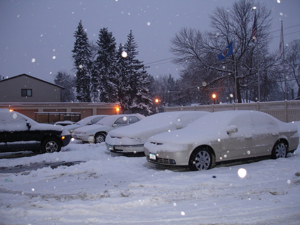 1Winters in Minnesota can be heavy. So prepare yourself to desnow your car each day!