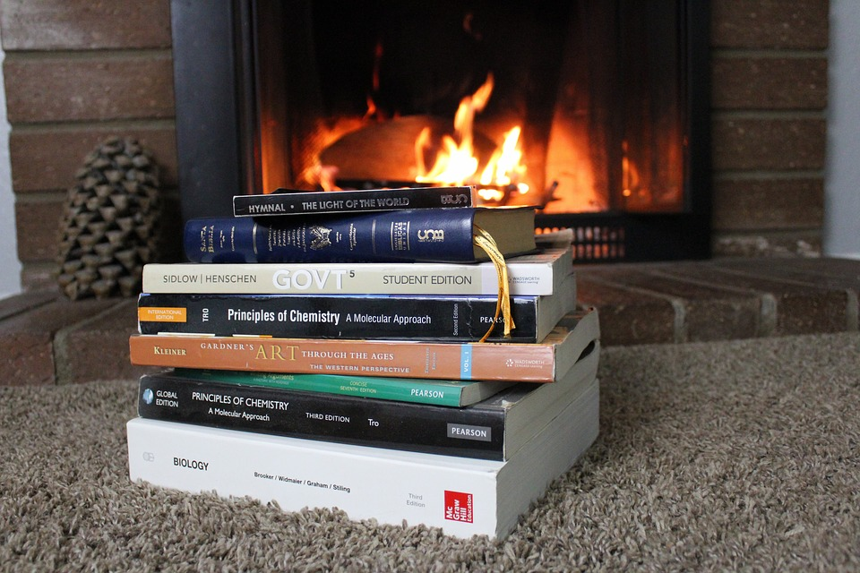 A stack of history books to get you ready for fun in Twin Cities in a museum.