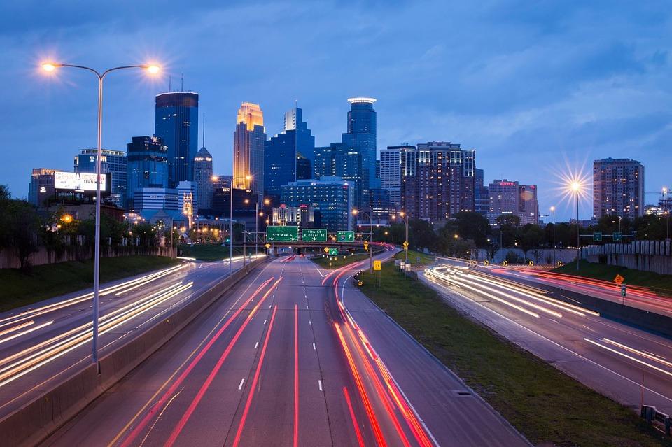 Minneapolis at night.