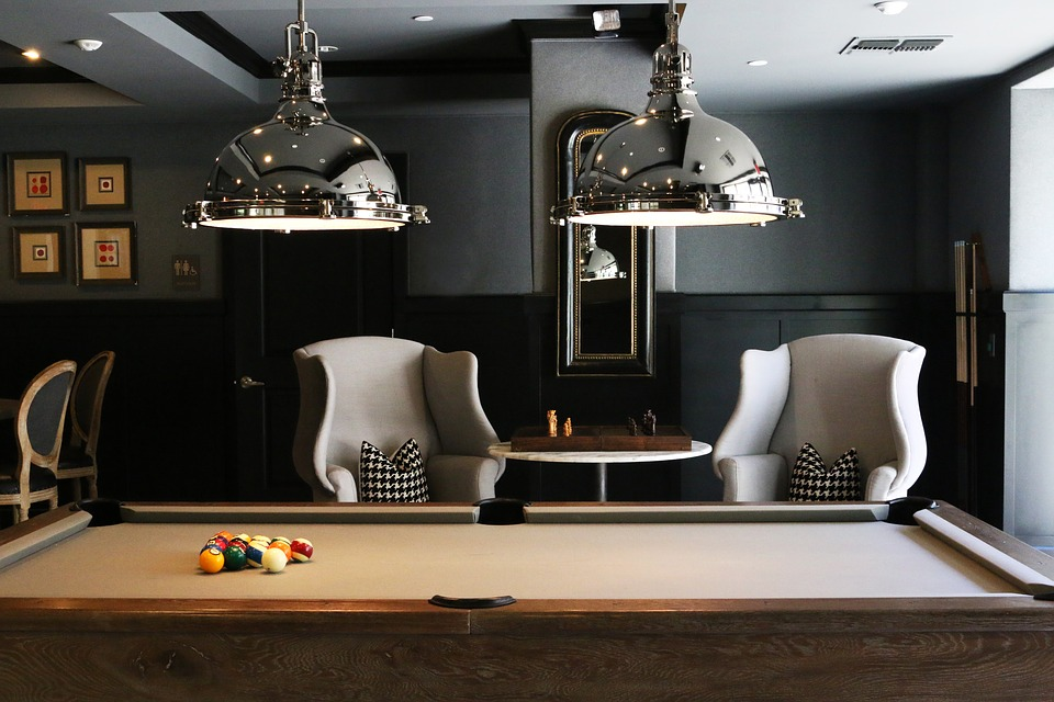 A billiards saloon - the perfect place to find reliable pool table movers for you!