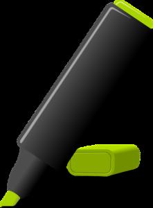 Green marker pen