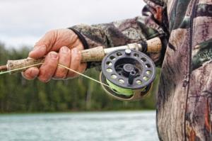 Man holding a fishing rod