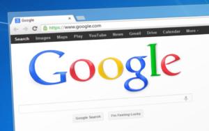 Image of google website