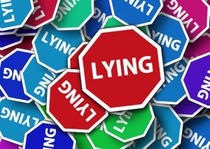 Lying sign
