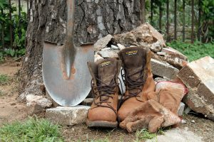 Working gloves and boots