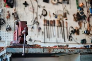 Tools in garage