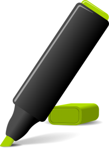 a green marker