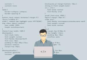 cartoon man programing
