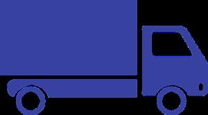 blue cartoon truck