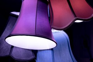 Colorful lamp shades