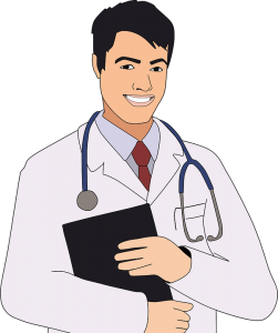 Image of an cartoon doctor
