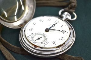 a vintage pocket watch