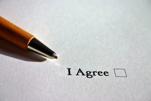 A paper saying I agree after Understanding your moving contract