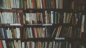 A bookshelf.