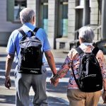 retirees walking