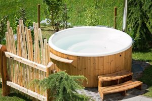 Image of a hot tub before it is transported by expert hot tub movers